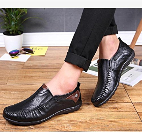 Extra Casuales Hombres Black de Zapatos Color de los Bean Grande Casual Código Zapatos Sólido RtAgwqx