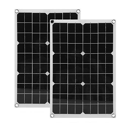 Genuine store 20 Watt Monocrystalline Solar Panel with Crocodile Clip & Car Charger, Bendable Flexible Thin Lightweight Battery Charger for RV/Boat/Other Off Grid Applications (20W -2pack)