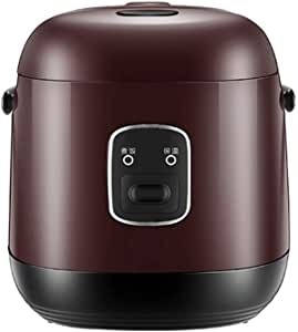 Rice Cooker with Steamer,1.2L Portable Multifunctional Mini Electric Pressure Cookers,Non-Stick Inner Pot,Keep-Warm Function,Easy to Use Household Dormitory Small Appliances,Brown