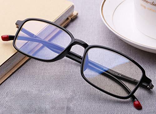 2X DAFREW Moda la protección Azul Lectura Negro contra de Lectores cómodos Material clásica Tamaño de Hombres Color usando luz anteojos radiación para Ultraligero Lentes de Negro rHzSqr
