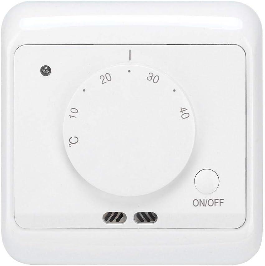 Fishlor Contr/ôleur de temp/érature contr/ôleur de temp/érature de Thermostat de Chauffage /électrique m/écanique r/égulateur de temp/érature Mural 230V 16A