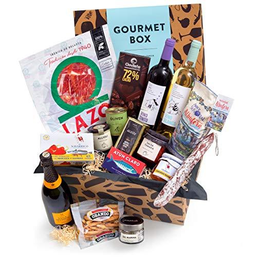 Feinkost-Präsentkorb Gourmet mit spanischen Delikatessen – Geschenkkorb für Feinschmecker & Freunde der mediterranen…