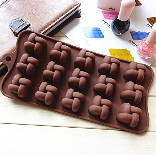 Silicone Knot Chocolate Molds Jelly Ice Molds Cake Mould Bakeware