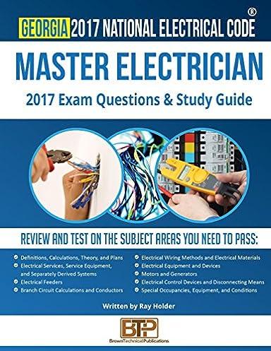 georgia 2017 master electrician study guide ray holder brown rh amazon com