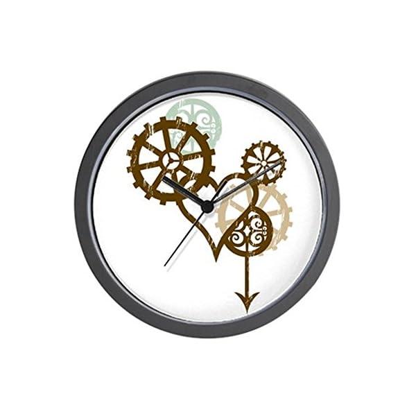 "CafePress - Steampunk Love Wall Clock - Unique Decorative 10"" Wall Clock 3"
