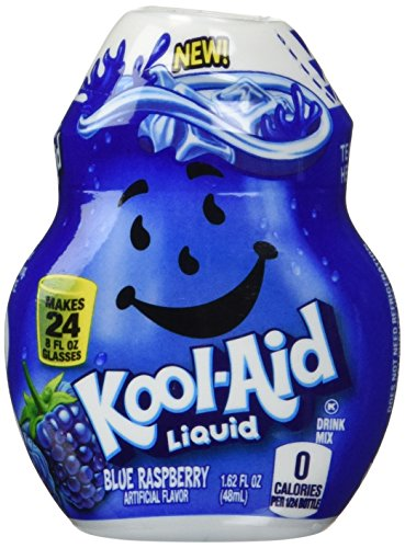(Kool-Aid Liquid - Blue Raspberry Flavoring - Makes 24, 8 Oz Glasses)