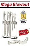 6 Pc. Stainless Steel Kitchen Cutlery Knife Block Set - 8
