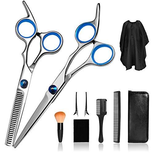 Haircut Kit, Professional Hair Cutting Scissors Kit Men, Hair Thinning Shears with Hair Cutting Comb, Home Salon Barber…