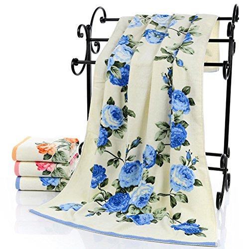 Cotton Bath Towel Peony Flower Bathroom Home Hotel Beach (Peony Pattern)