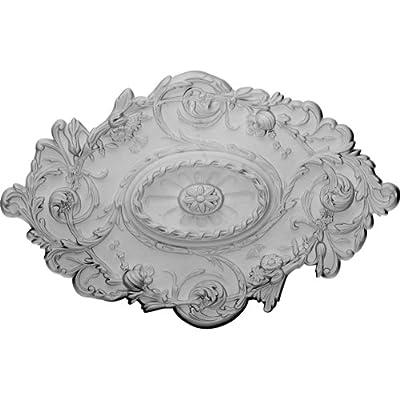 Ekena Millwork CM30SG 30 1/2-Inch W x 20-Inch H x 1 1/2-Inch P Strasbourg Ceiling Medallion