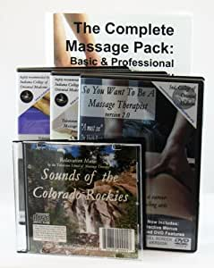 Massage Therapy Professionals' Pack: 3 DVD & Workbook Pack plus bonus Relaxation Sounds CD v2.0 Basic Massage, Massage for Professionals, So You ... CD--interactive menus, advanced features