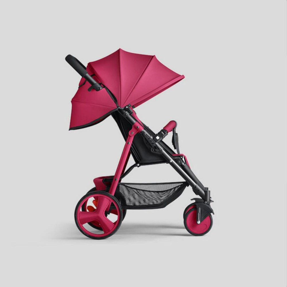 QXMEI Baby Stroller Can Sit Reclining Simple Mini Stroller Folding Four Seasons Portable Super Child Baby Stroller,3