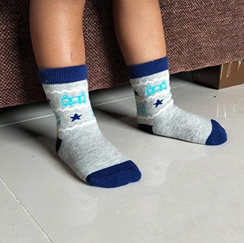 Deluxe Non Skid Anti Slip Slipper Cotton Crew Socks With