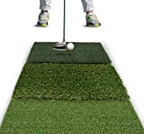 Rukket Tri-Turf Golf Hitting Mat Attack   Portable Driving, Chipping, Training Aids for Backyard (25in x 16in)