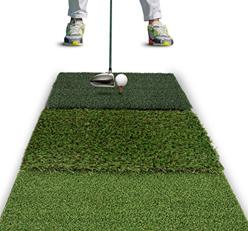 "Rukket Tri-Turf Golf Hitting Mat Attack | Portable Driving, Chipping, Training Aids for Backyard (25"" x 16"")"