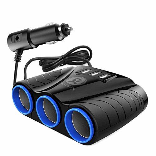 SHAOLIN Cigarette Lighter Adapter USB Car Charger with multiple ports Cigarette Lighter Splitter