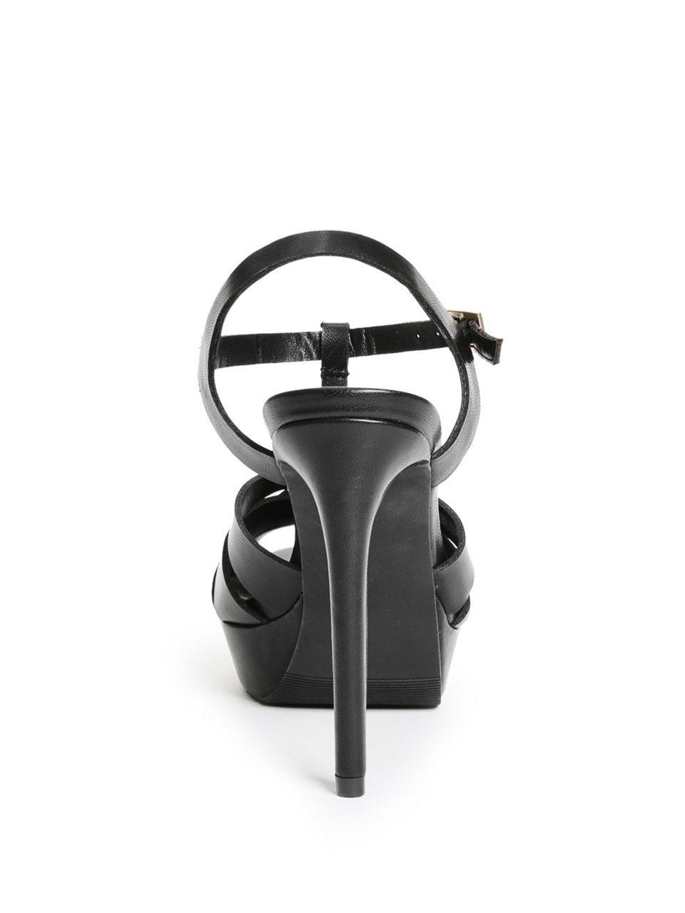 GUESS Women's Cassy Strappy Platform US|Black Heels B07CYWZ7P6 5.5 M US|Black Platform 52760f