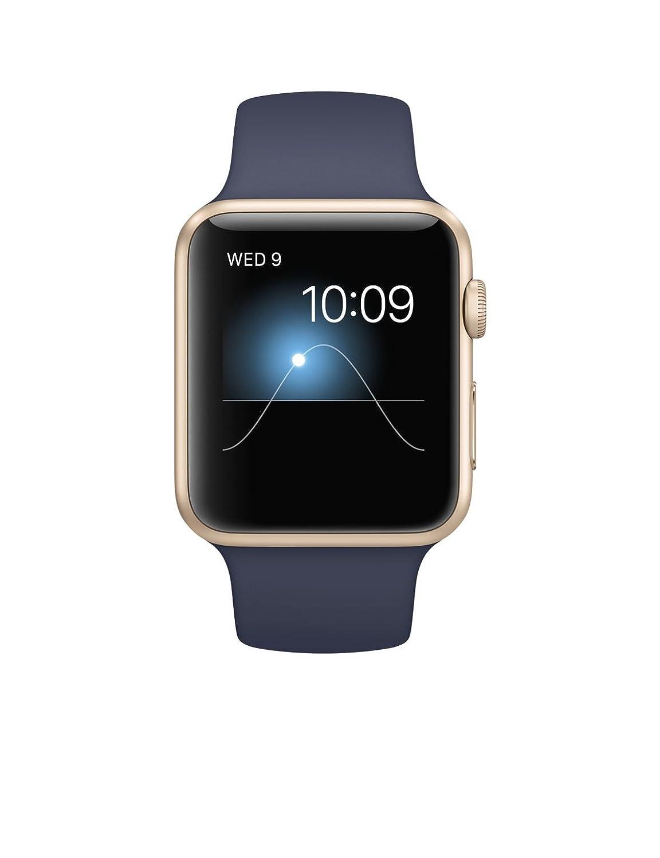 Apple Watch Gen 1 Sport 42mm Gold Aluminum - Midnight Blue Sport Band MLC72LL/A