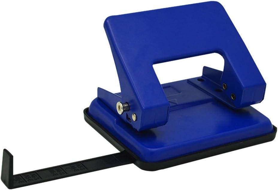 Color : Black Aiyawear Hole Punch Punching Machine Two Hole Punching Machine Office Double Hole Punching Machine Assembly Hole Machine