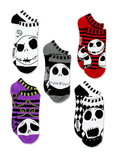 The Nightmare Before Christmas Womens Multi Pack Socks (9-11 Womens (Shoe: 4-10), Black/Multi)
