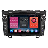 Autosion 8 inch In Dash Android 6.0 Car DVD Player Radio Head Unit GPS Navigation Stereo Gray for Honda CR-V 2007 2008 2009 2010 2011 Support Bluetooth SD USB Radio OBD WIFI DVR 1080P