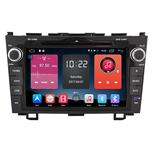 Autosion 8 inch In Dash Android 6.0 Car DVD Player Radio Head Unit GPS Navigation Stereo Gray for Honda CR-V 2007 2008 2009 2010 2011 Support Bluetooth SD USB Radio OBD WIFI DVR 1080P by Autosion
