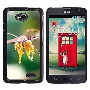 LECELL -- Funda protectora / Cubierta / Piel For LG Optimus L70 / LS620 / D325 / MS323 -- Nature Water Leaf --