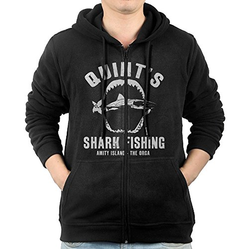 Httylo Hoodies Quint's Shark Fishing Man Full Zip Hoodies Graphic Sweatshirt With...