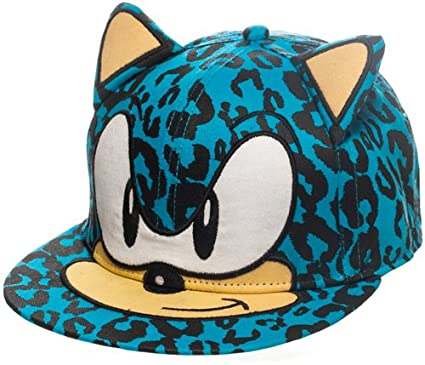 SEGA Sonic the Hedgehog Leopard Sonic Face with Ears Baseball Cap ... 01e8d6dc4489