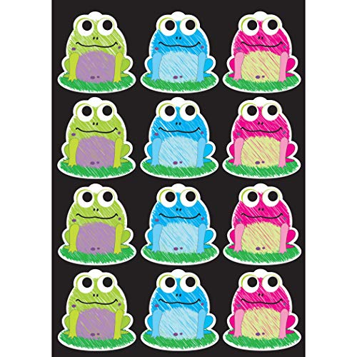 Fridge Frog Magnet - Ashley Productions Scribble Frogs Die-Cut Magnet