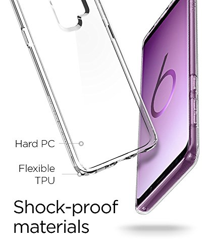 Spigen Ultra Hybrid Galaxy S9 Plus Case with Air Cushion Technology and Clear Hybrid Drop Protection for Samsung Galaxy S9 Plus (2018) - Crystal Clear by Spigen (Image #7)