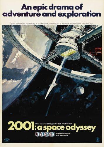 Stanley Kubricks: 2001 A Space Odyssey-Filmplakat, A3, 280 g/qm, Fotopapier, seidenmatt