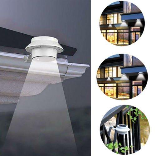 Gbargain Outdoor Solar Gutter LED Lights Sun Power Smart