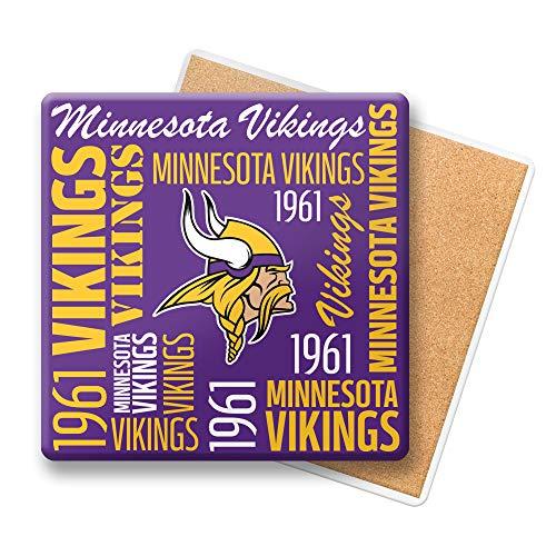 NFL Minnesota Vikings Ceramic Spirit Coaster Pack of One