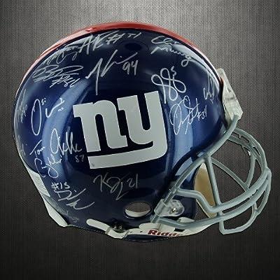 Steiner Sports GIANHES000044 New York Giants Team Signed 2011 Helmet Super Bowl XLVI