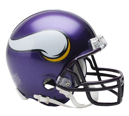 - Minnesota Vikings 2006-12 Throwback NFL Riddell Replica Mini Helmet