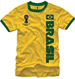 FIFA World Cup Soccer - Brasil - Ringer T-Shirt X-Large