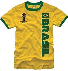 FIFA World Cup Soccer - Brasil - Ringer T-Shirt