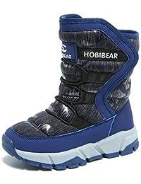 Boys Snow Boots Winter Waterproof Slip Resistant Cold...