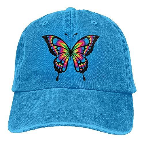 Walnut Cake Gorras béisbol Laser Butterfly Denim Hat Adjustable Women Fitted Baseball Hat