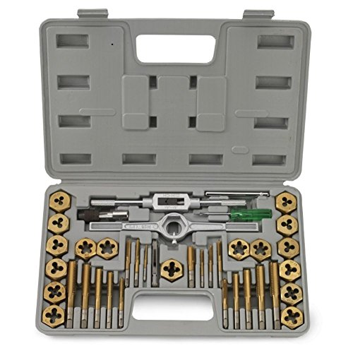 Domeiki 40pc Forged Tap Die SAE Heat Treated & Heavy Duty Titanium Steel Coated Set from Domeiki Home
