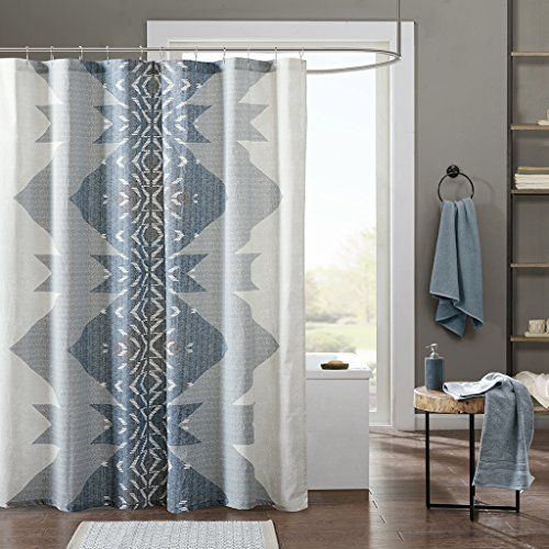 (Ink+Ivy Nova Shower Curtain, 72x72, Blue)