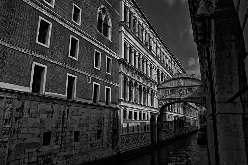 - Home Comforts Peel-n-Stick Poster of Channel Venezia Canal Grande Rialto Bridge Vivid Imagery Poster 24 x 16 Adhesive Sticker Poster Print