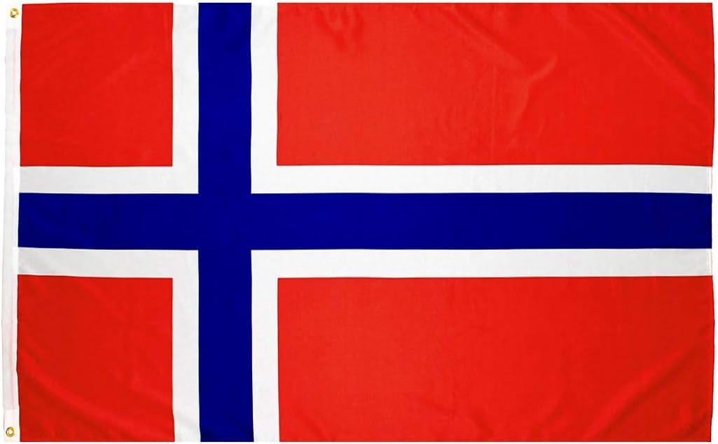 New Norweigan Wooden Flag 03655 2-5d Shipping NIB