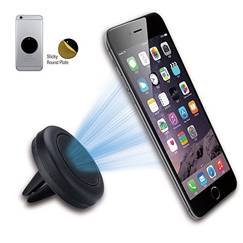 Car Mount,Ecandy Grip Magic Mobile Phone Air Vent Magnetic Universal Car Mount Holder Cradle for iPhone and Andriod cellphones