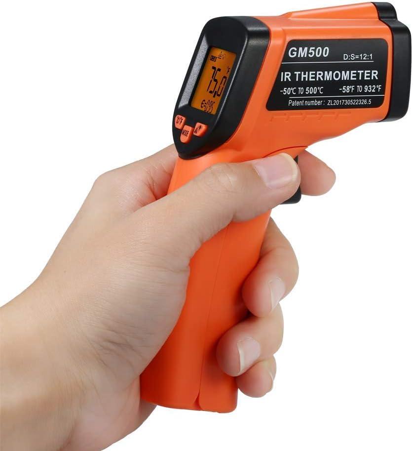 Term/ómetro infrarrojo DT8220-50 ℃ ~ 220 ℃ Term/ómetroInfrarrojo Digital Sin Contacto Lcd Con Lectura Fahrenheit y Celsius