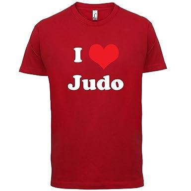 I Love Judo - Herren T-Shirt - Rot - XS