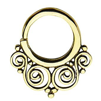 14g 3 8 nose septum unique body jewelry for unique buyers free gift box w 2 clothing - Decorative septum jewelry ...