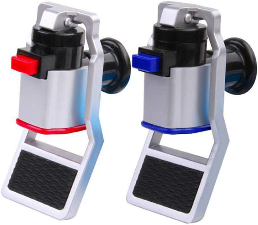Water Cooler Faucet, Water Dispenser Spigot, Push Style with Child Safety Lock for Ro System Adaptor Hot Cold Water, 2 pieces Plastic, Red/Blue - -