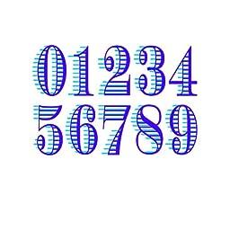 Not Too SweetTats Striped Breeze Bib Numbers Arm Temporary Tattoo Pack - 40 1-Digit Number Tattoos Per Pack